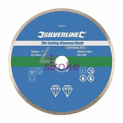 Tile Cutting Diamond Disc 180mm X 22.2mm Continuous Rim Blade High Quality