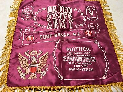 Vintage US Army Fort Bragg, North Carolina Mother Pillow Cover