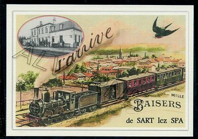 SART  lez  SPA    - train souvenir creation moderne - serie limitee numerotee