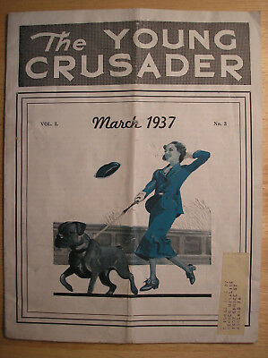 Vtg. 1937 The Young Crusader Woman's Christian Temperance Union Magazine