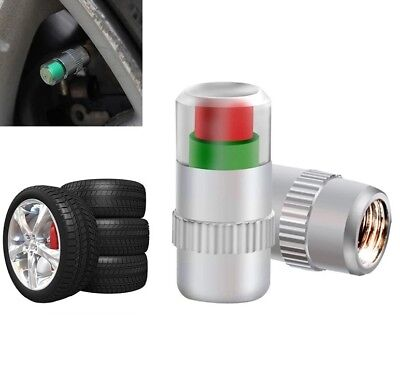 4 PCS SET 36PSI CAR TIRE TYRE PRESSURE MONITOR Valve Alert Cap Sensor Indicator