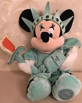 Disney Store Authentic Statue Of Liberty Minnie Mouse July Iv MDCCLXXVI