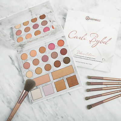 Carli Bybel NEW Deluxe Edition 21 Color Eyeshadow & Highlighter Palette Genuine