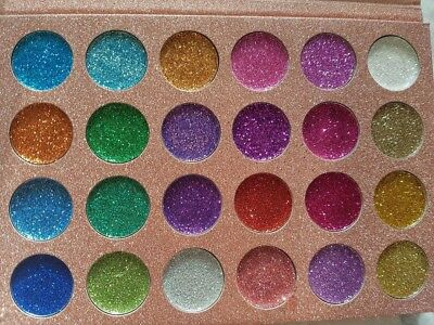CLEOF Pressed Glitter Eyeshadow Palette Make Up High Quality 24Colour UK Seller