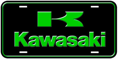 Kawasaki Aluminum Collectible Car License Plate 6x12