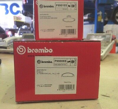 Brembo Genuine Front & Rear Brake Pads To Suit Ford Falcon Fg Standard Calipers