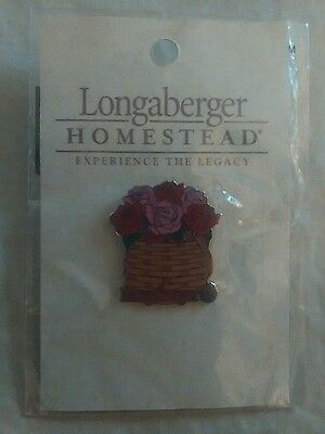 2004 Longaberger Tournament of Roses Parade ~LAPEL PIN NIP PIN ROSE BASKET