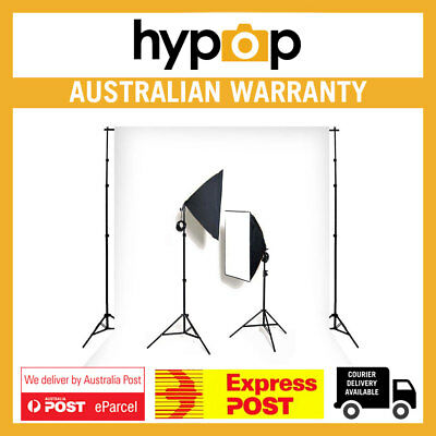 Hypop Double Rectangle Softbox Kit (Includes: Backdrop Stand & Muslin)