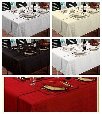 Xmas Jacquard Christmas Tablecloths Napkins Runners Dinner Party Linen Kitchen