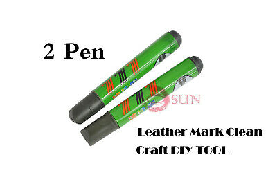 2× Dirt Easy Mark Clean Pen Kit Leather Craft DIY Tools