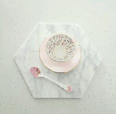 NEW [ HEXAGON ] Marble Tray Plate Homewares Trivet