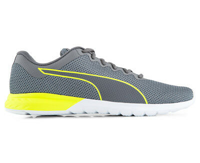Puma Men's Vigor Running Shoe - Grey/Yellow