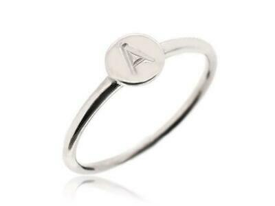 Sovats Stacking Stackable Dainty Name promise Rings Personalized US Size 5-12