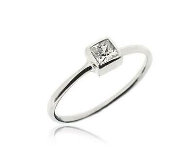 Sovats 925 Silver White Cubic Zirconia Wedding Engagement Bridal Ring Size 5-12