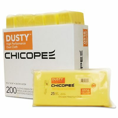 DUSTY 0516 Disposable Dust Cloths  10 14 x 24  Yellow  RayonPoly  25Bag  8