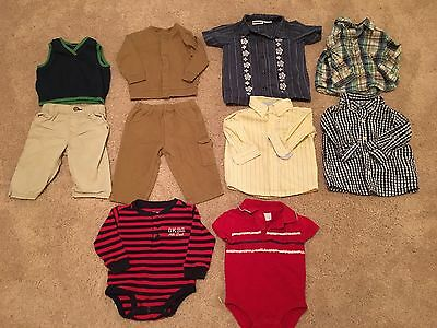 Lot Of Baby Boy Clothes Shirts And Pants Size 6-9 Months