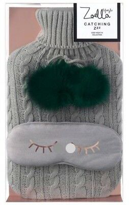 Zoella Lifestyle Catching ZZZ's Hot Water Bottle Cover/Eye Mask - Christmas 2017