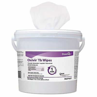 Diversey 5388471 Oxivir TB Disinfectant Wipes  6 x 7  White  60Canister  12