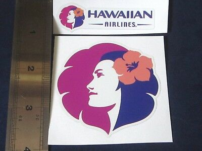 Hawaii  Hawaiian Airlines Decal Sticker Set Of Two