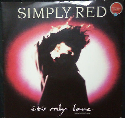 """Simply Red - It's Only Love 12"""" U.k. Pressing"""