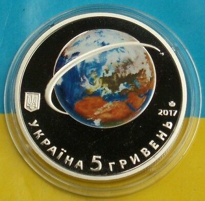 Ukrainian Coin 2017 60-Th Anniversary Of Launch Of First Earth Satellite