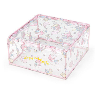 My Melody Transparent Storage Box Magnetic Open  Sanrio Japan