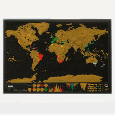 World Map Deluxe Travel Edition Scratch Off Poster Personalize Creative Journal