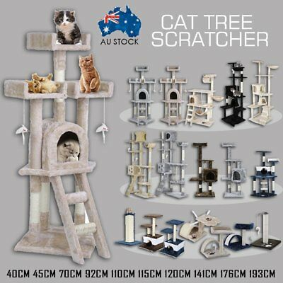 Cat Tree Scratching Post Scratcher Pole Gym Toy House Furniture Multi Level AUBG