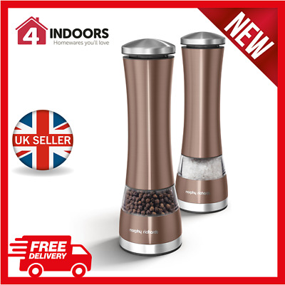 Morphy Richards Accents Electronic Salt And Pepper Mill  Copper - Branmd New