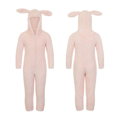 Loungeable Girls 3D Pink Sparkle Rabbit All In One Super Soft Luxury Nightwear