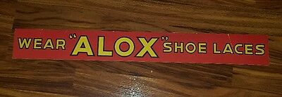 1940's ALOX SHOE LACES STORE SIGN CARDBOARD
