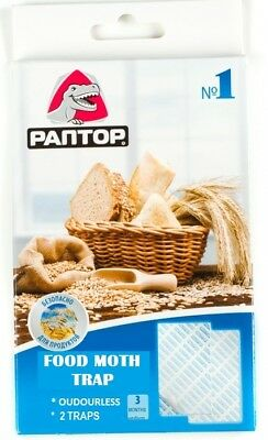 2x Pantry Food Moth Trap & Lure  Lasts 90days  PESTICIDE FREE same as ENVIROSAFE