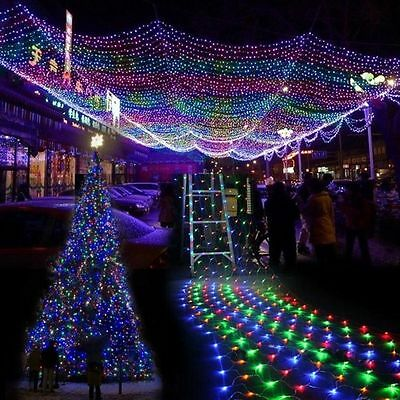 3Mx2M LED Fairy String Net Lights Xmas Garden Curtain Xmas Party Outdoor Indoor