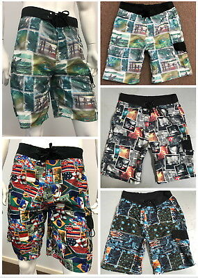 Mens Surf Beach Swimming Board Shorts -FREE Shipping -Size 30 to Size 42
