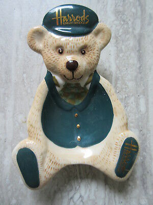 Harrods Kinghtsbridge Department Store Porcelain Bear Pin dish