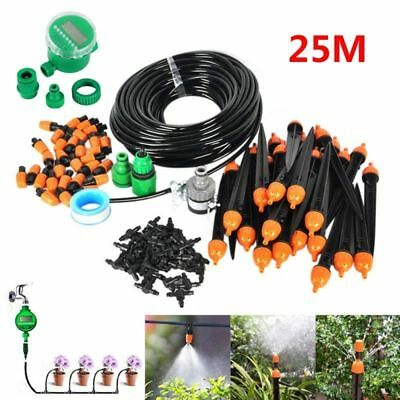 15/25M DIY Micro Drip Irrigation System Water Timer Plant Watering Garden Hose