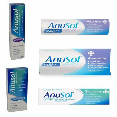 Anusol | Suppositories Ointment Cream Soothing | Full Range