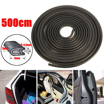 16FT 9mm U Shape Car Door Edge Rubber Seal Strip Weather Sealing Guard Mold Trim
