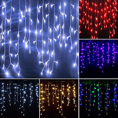 Icicle LED Fairy String Curtain Lights Wedding Party Xmas Windows Outdoor Indoor