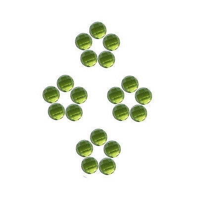 100% Natural Peridot 3 mm to 6 mm Round Shape Faceted Cabochon Loose Gemstones