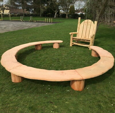 PLAYGROUND RING SEAT Perfect outdoor wooden school furniture.