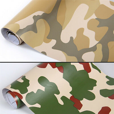152cm*20cm Camo 3D PVC Vinyl Car DIY Wrap Sheet Roll Film Sticker Decal