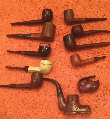 11 Vintage Estate Tobacco Pipes -  Nice Variety in this Collection   Lot #2