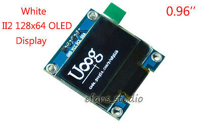 "White 0.96"" I2C IIC 128x64 OLED LCD Screen Display Module SSD1306 For Arduino 5v"
