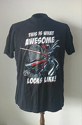 """Star Wars-Darth Vader-Official T Shirt """"This Is What Awesome Looks Like"""" Size XL"""