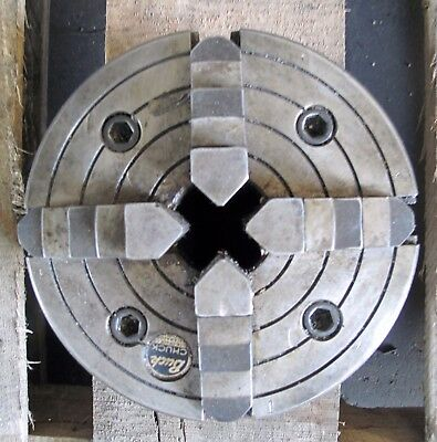 "(16486) 6"" Buck 4-Jaw Chuck, 1-1/2"" Thru-Hole, L Mount,  1 Piece Jaws,"
