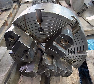 "(16290) 15"" 4-Jaw Buck Chuck, 4-1/4"" Thru-Hole, D-6 Cam Lock, 2 Piece Jaws"