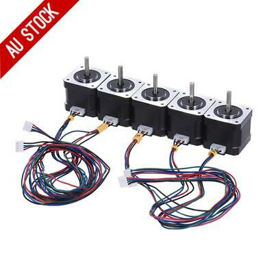 5PCS Stepper Motor Nema 17 Drive 57oz.in(40Ncm) 2 Phase 1.8° for CNC/3D Printer