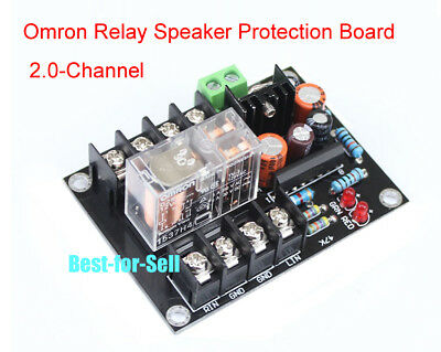 UPC1237 Speaker Protection Board AC12V-24V OMRON Relay for stereo 2 channels