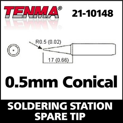 0.5mm Conical Soldering Iron Tip 21-10148 for Tenma 21-10115 Maplin A55KJ A86UF